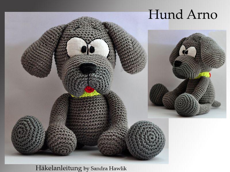 PDF, Hund Arno , 33 cm, gehäkelt , Häkelanleitung | Arno, Amigurumi ...