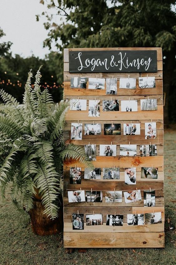 garden wedding photo wall ideas
