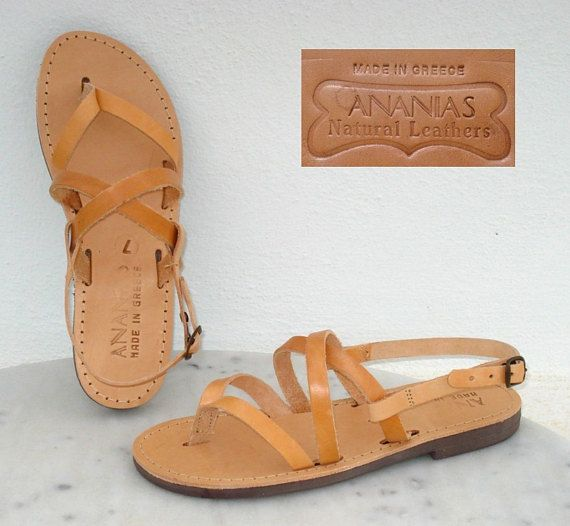 ba917c00b4a8c2 ANANIAS Greek Sandals Roman Grecian handmade leather sandals - NEW STYLE