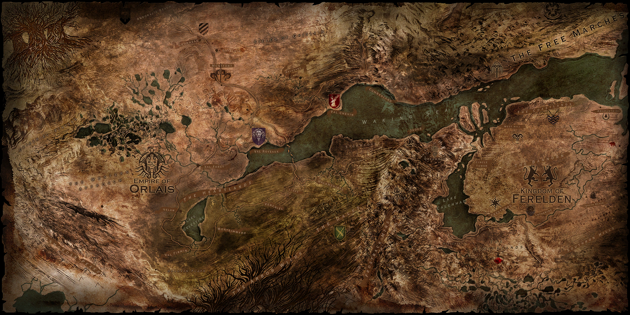 Map Of Thedas Dragon Age Inquisition