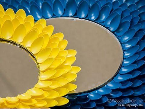 DIY 42 Flower Mirror My Own Version An Alternative To Plastic Spoons