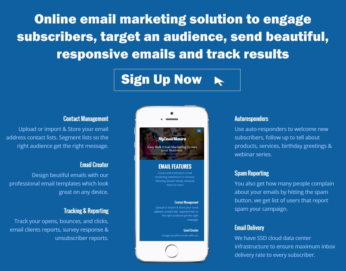 online email marketing solution to engage subscribers, target an