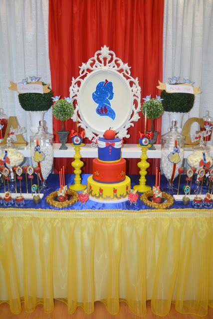 Snow White Theme Dessert Table Decor Snow White Birthday Party Snow White Birthday Snow White