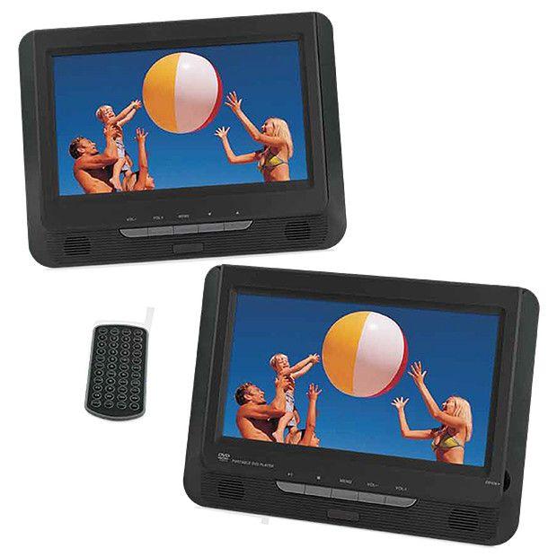target dual screen portable dvd player pdvd 902