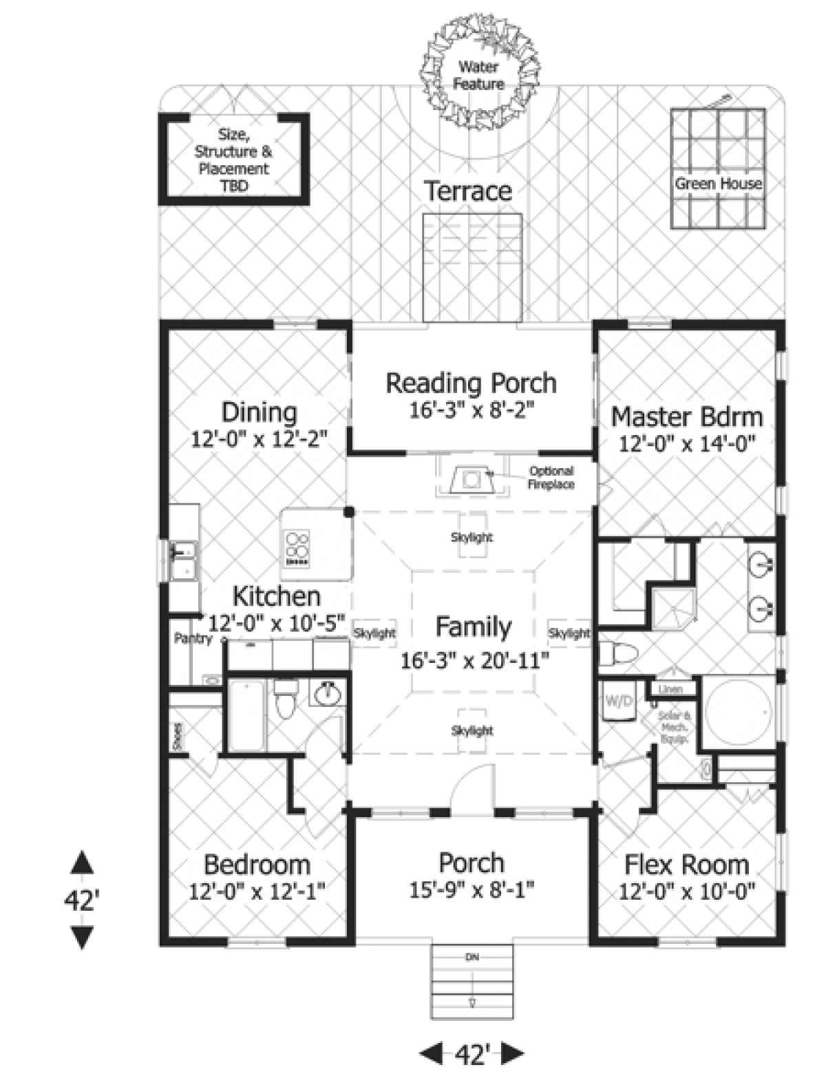 House Plan 036 00177 Bungalow Plan 1 488 Square Feet 3 Bedrooms 2 Bathrooms In 2020 Bungalow Style House Plans House Floor Plans House Plans