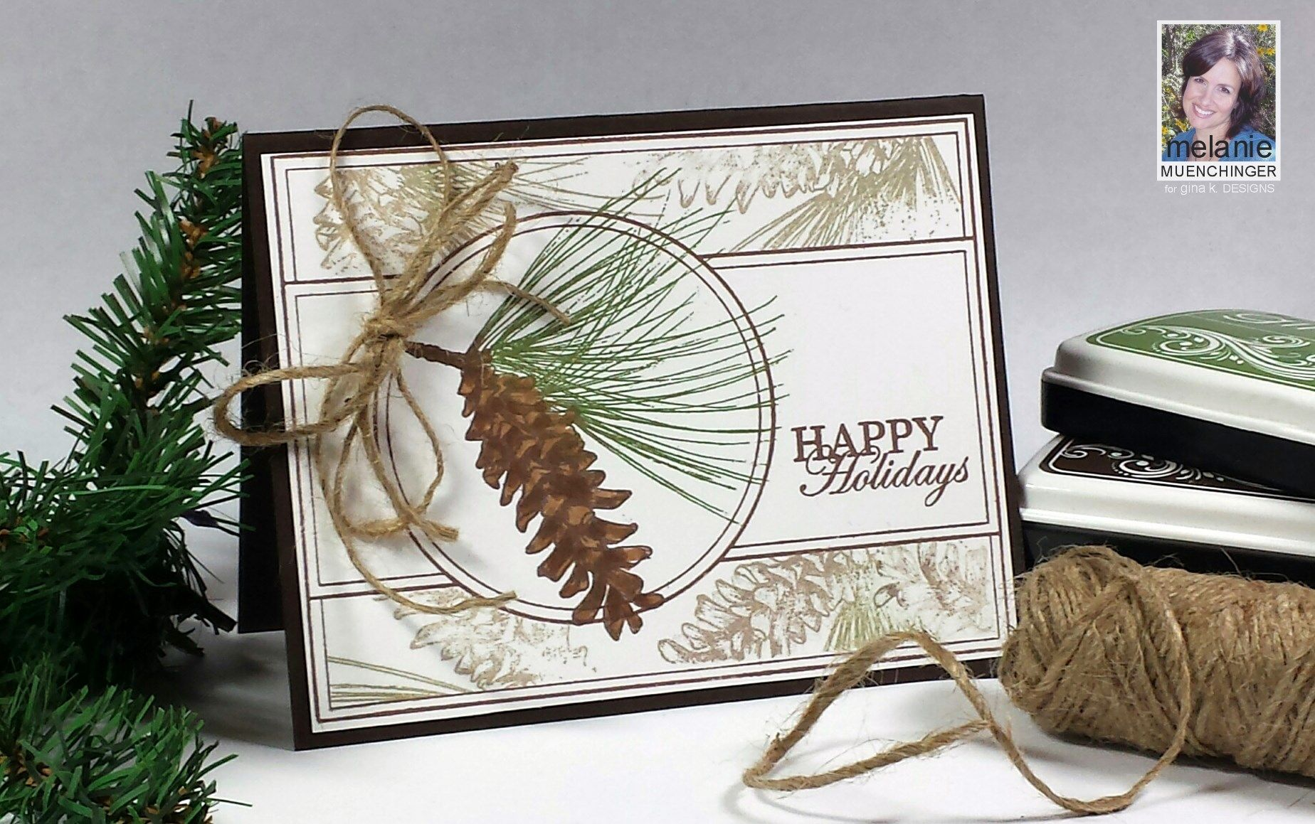How to Make A Masculine Card with Holiday Frame | Gina K, Stamp TV ...