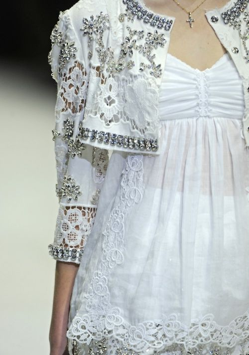 white lace and sparkles