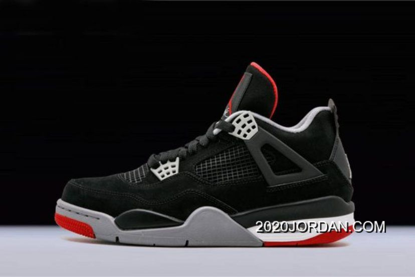 "promo code 1d071 d668c Women Men 2020 Buy Now New Air Jordan 4 Retro ""Bred"" Black Cement Grey-Fire  Red 308497-089, Price   89.01 - 2020 Air Jordan Shoes, Free shipping"