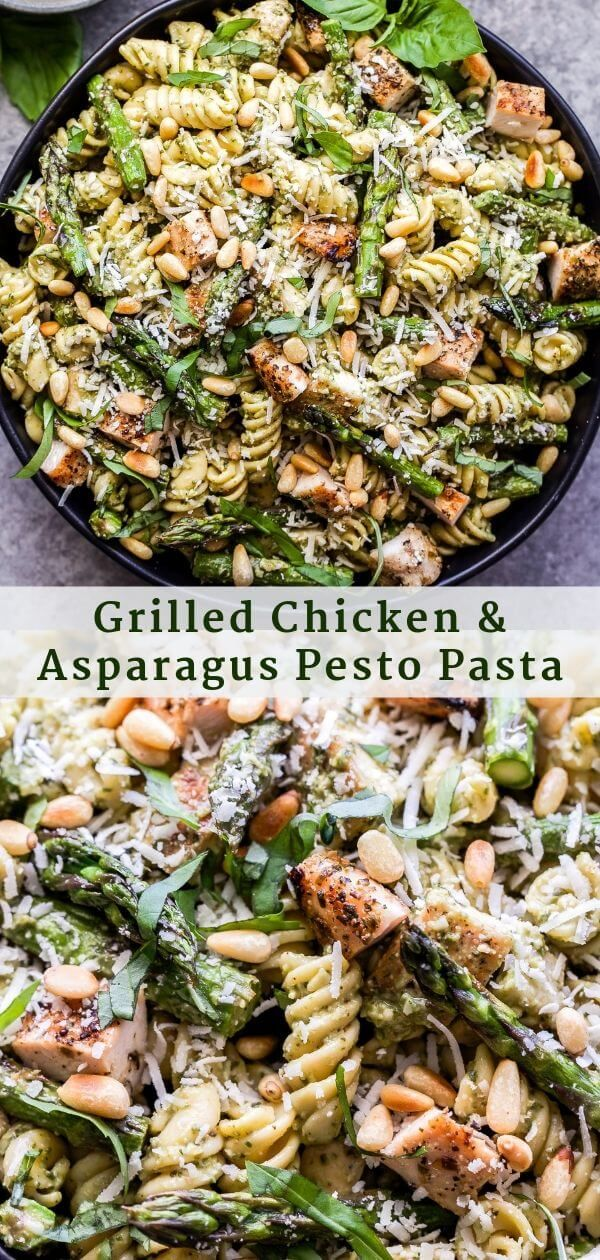 Photo of Grilled Chicken and Asparagus Pesto Pasta