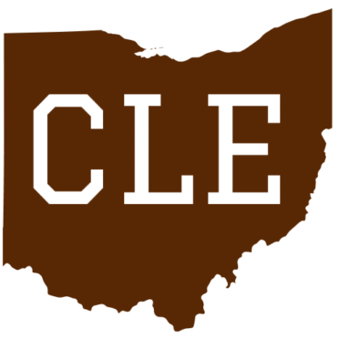 Get this cle cleveland ohio brown sticker online at the u s custom stickers decal store
