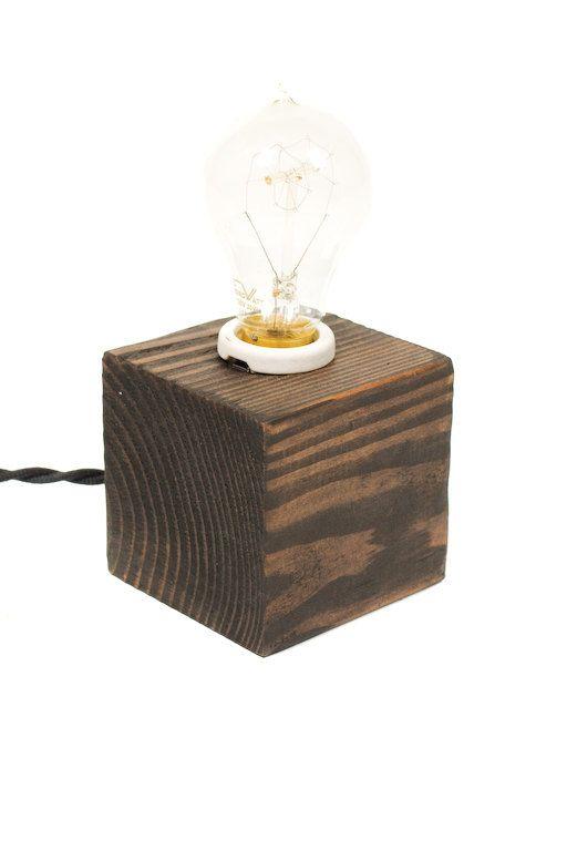 The Minimalist Edison Bare Bulb Table Accent Lamp Ebony Etsy Light Table Accent Lamp Lamp