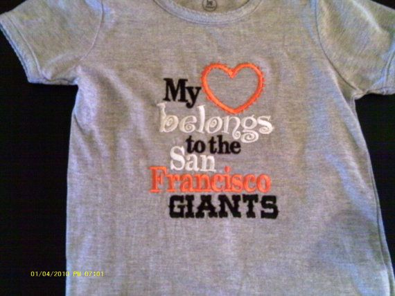 San Francisco Giants tee shirt by phyllisyeager on Etsy, $15.00