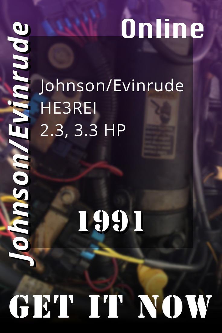 "1991 Johnson Evinrude /""EI/"" 2.3 Thru 8 HP Outboard OEM Service Manual"