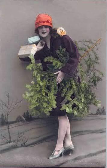 Vintage Christmas card. °
