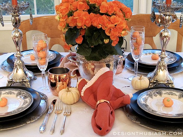 Color  Class - A Halloween Table Setting Halloween table - halloween table setting ideas