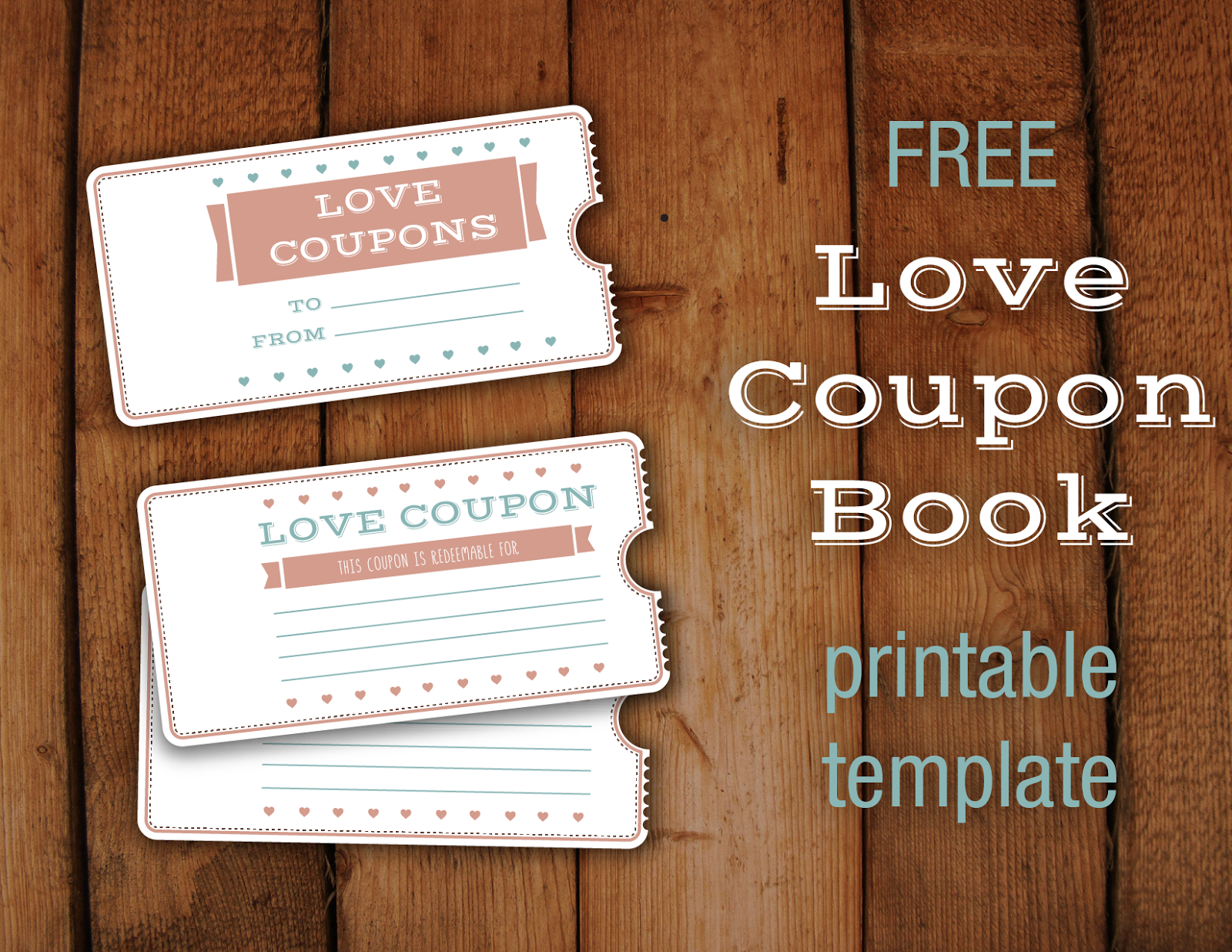 Free Valentine S Love Coupon Printable Booklet Template Love Coupons Booklet Template Coupon Book