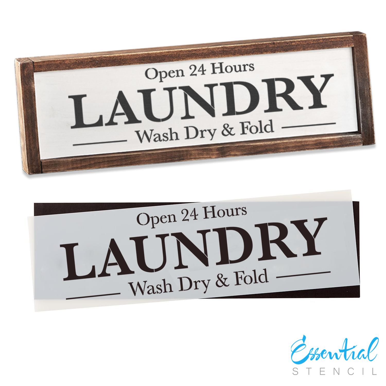 Laundry Sign Stencil Reusable Farmhouse Stencil Diy Wood Signs
