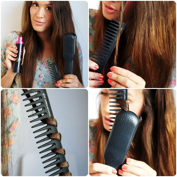 krølle hår med glattejern