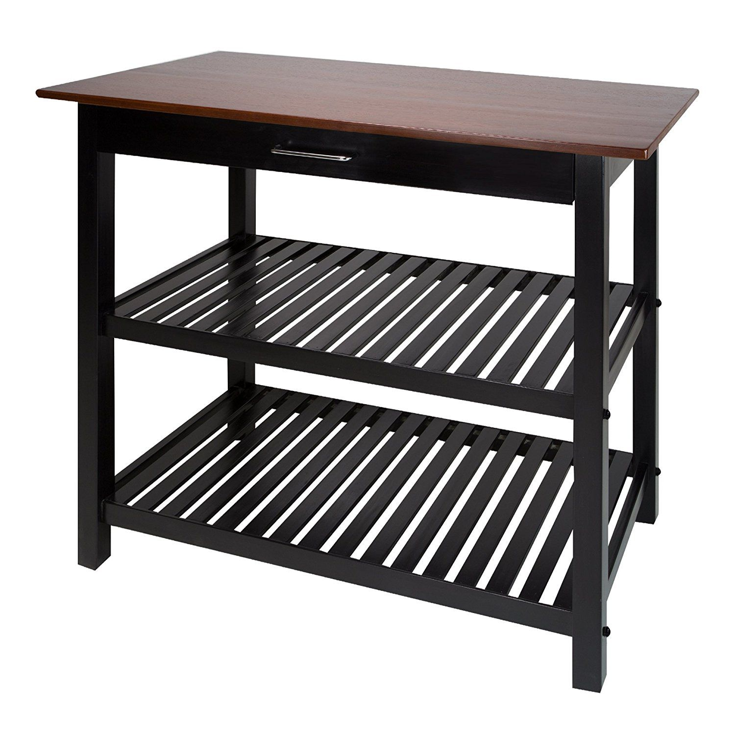 Best Amazon Com Casual Home Kitchen Island With Solid American 400 x 300
