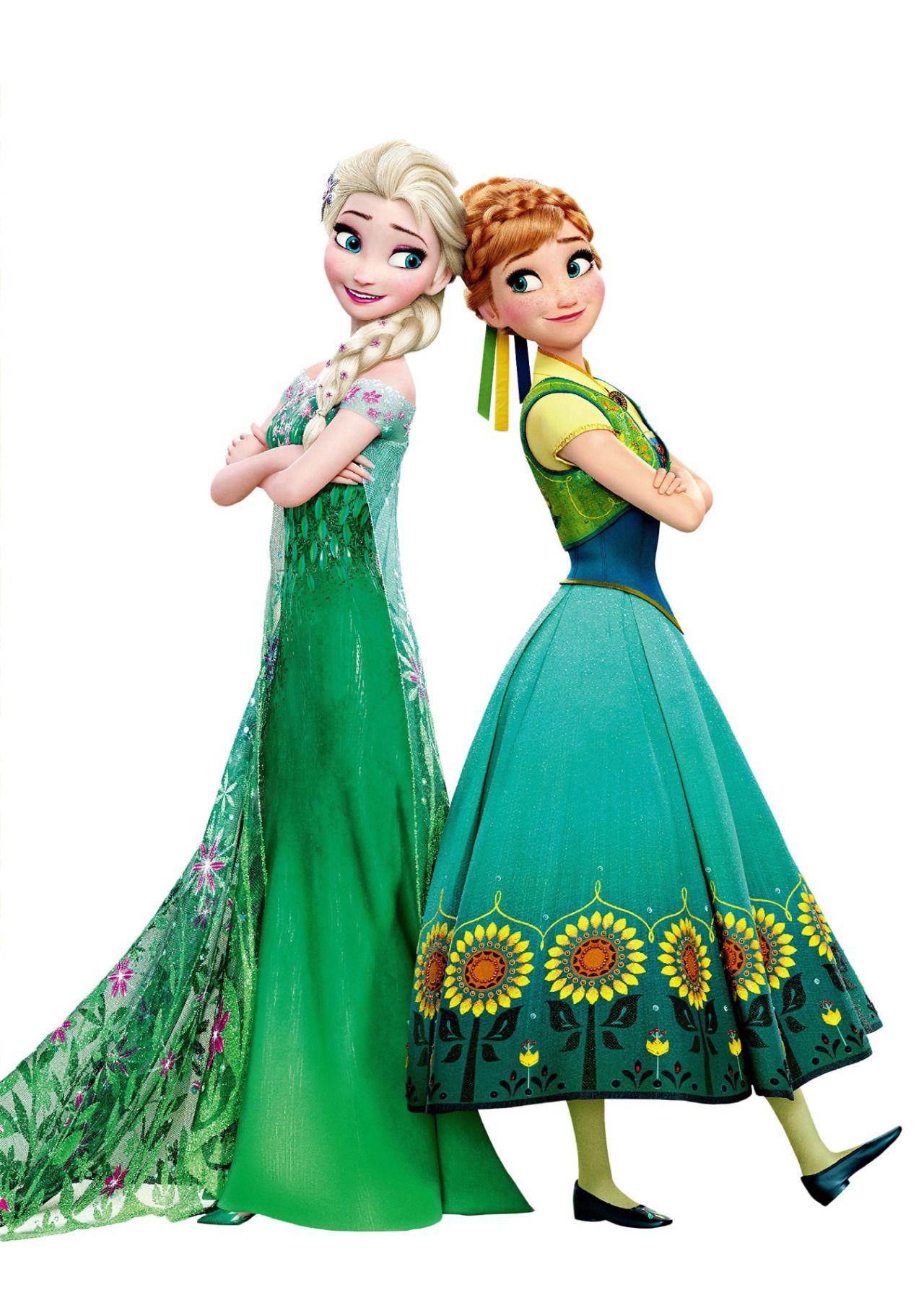 Anna And Elsa In Frozen Fever Anna Frozen Disney Frozen Frozen