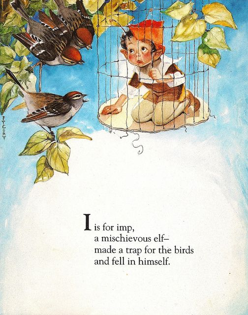 """""""I is for Imp"""" - Fanny Y. Cory by docarelle (away for a while), via Flickr"""