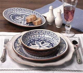 Belle And June Home Decor Thanksgiving On My Mindcasafina Indigo Dinnerware Via Belle And