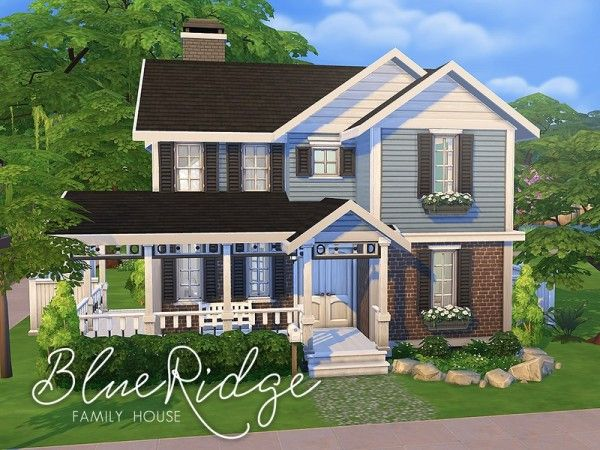 The sims resource blue ridge family house by smubuh for Sims 4 house plans