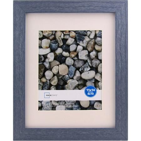 mainstays ogunquit 11x14 matted to 8x10 blue picture frame walmartcom
