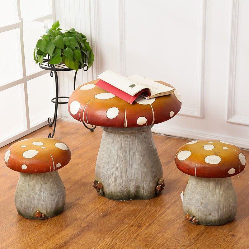 22 5 Zoll Kinder Polyresin Pilz Tisch Und Stühlen