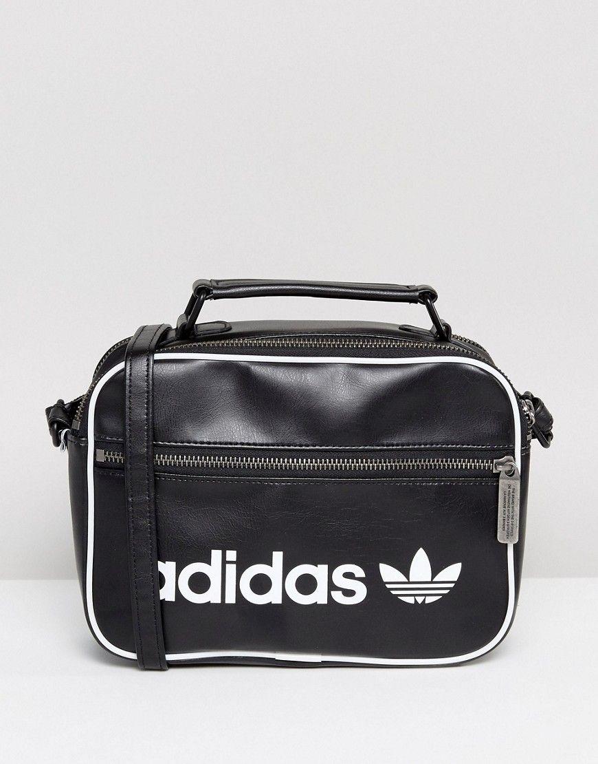 67ed4f4cc536 Adidas Originals Vintage Mini Airliner Bag In Black - Black