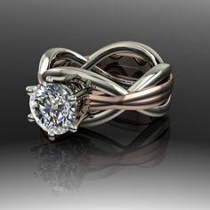 Infinity Forever Brilliant Moissanite Engagement Ring 1.50 CTW
