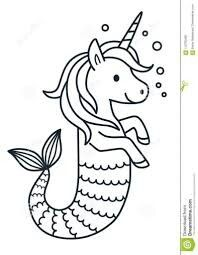 Mermacorn Ariel coloring pages