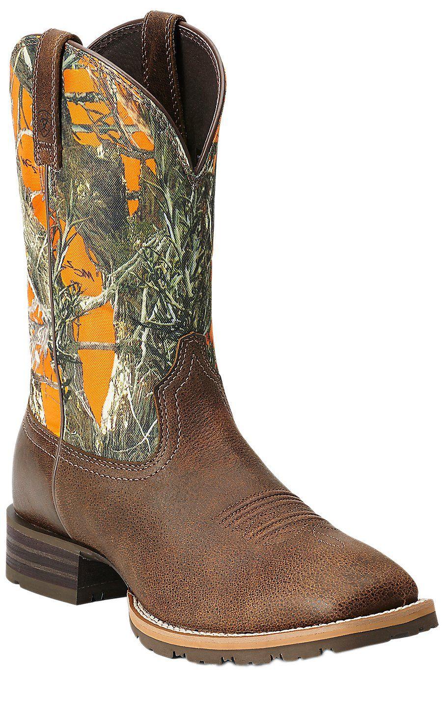 Ariatr Hybrid Ranchertm Men39s Brown With Orange True Timber