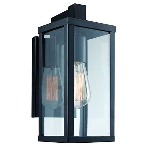 Outdoor Wall Lantern Lights Classy Target $40 Bel Air Acrylic Glass Outdoor Wall Light  House Review