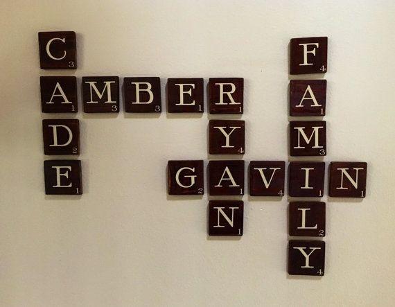 Decorative Scrabble Tiles Scrabble Wall Letter 35 X 35 Scrabbleniftygaliftydesigns