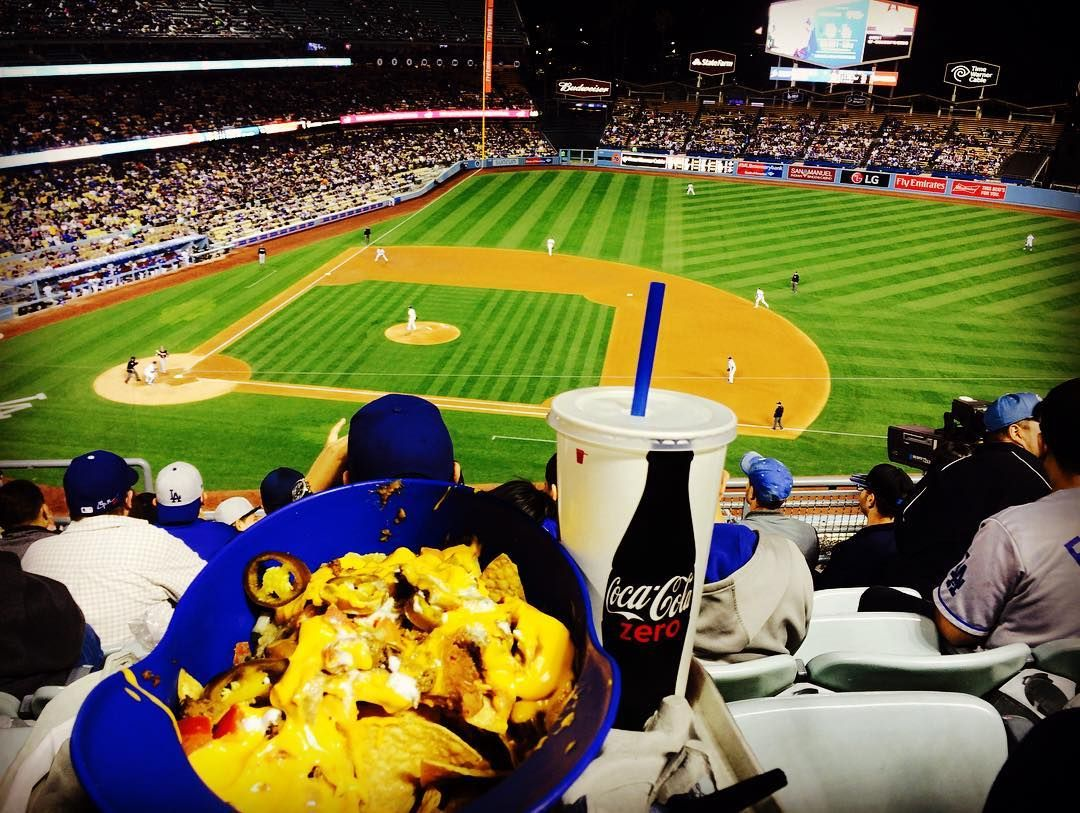 THINK BLUE: Nachos baseball no beer.  by zasimmons
