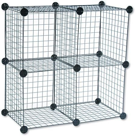 Safco Wire Cube Shelving System, 14w x 14d x 14h, Black | Tee Shirt ...