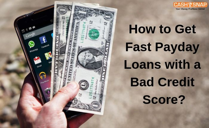 You can get online payday loans even if you have bad