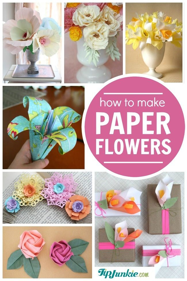 38 How to Make Paper Flower Tutorials {so pretty!}