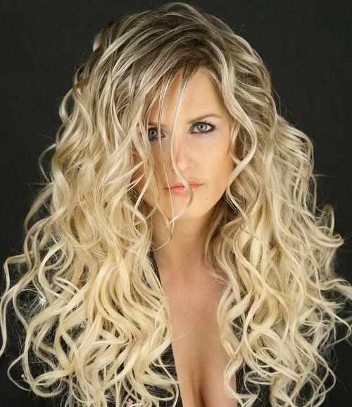 Beautiful Blonde Long Curly Hairstyles Hair Styles Curly Hair Styles Long Hair Styles