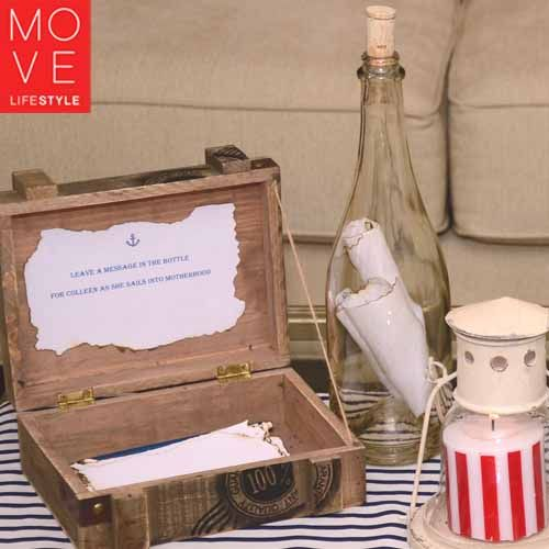 Ahoy Itu0027s a Boy Baby Shower Message in a Bottle Move LifeStyle - baby shower message