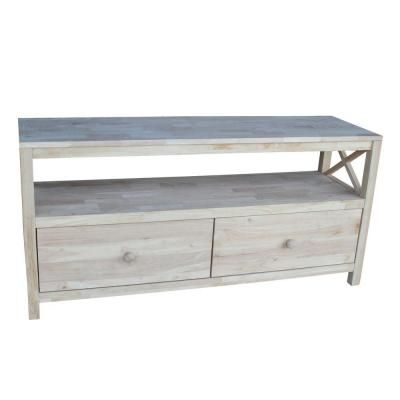 Hampton X Tv Stand In Unfinished 35 The Home Depot