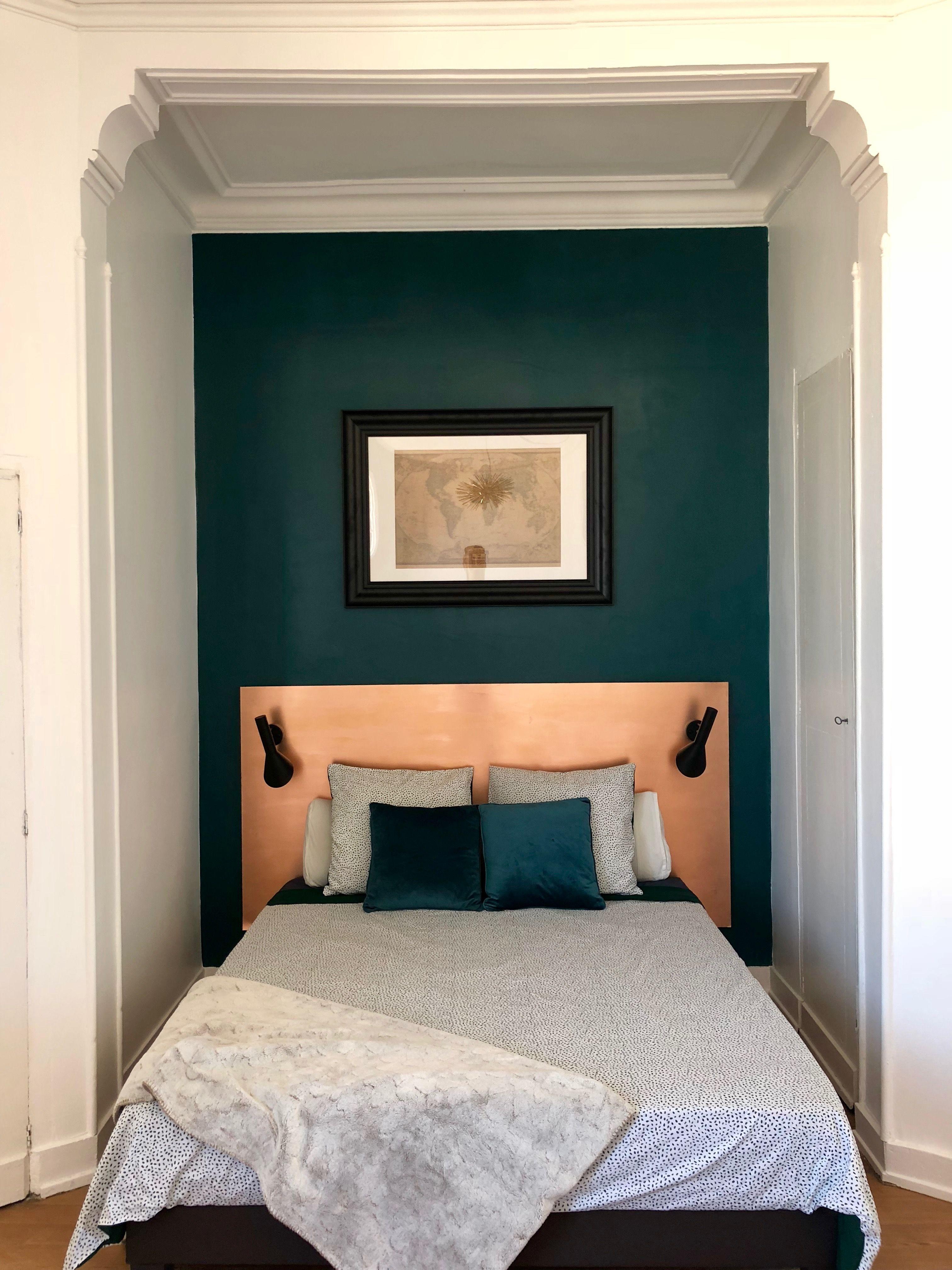 Chambre Vert Foncé Et Cuivre Amelie Room Pinterest Vert