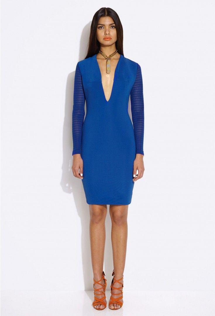 Belle Blue Long Sleeved Mini Dress �95