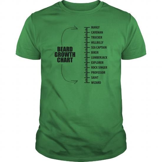 I Love Beard Growth Chart Shirt Tee Life Quotes 10 T Shirt