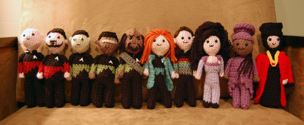 Star Trek TNG Crochet Dolls