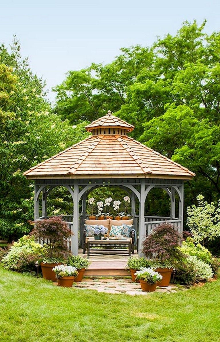 54 Comfortable Backyard Gazebo Design Ideas Garden Gazebo Patio Gazebo Backyard Patio