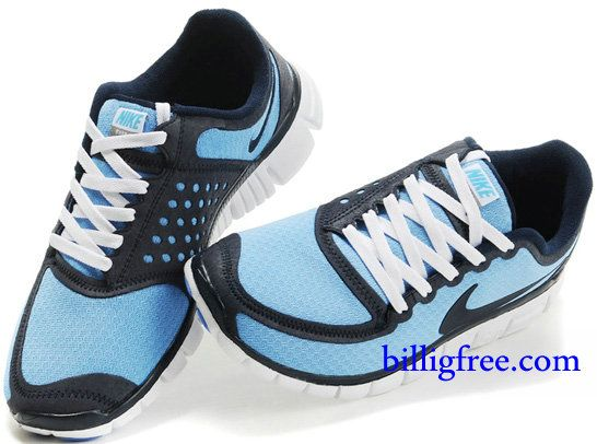 Billig Schuhe Herren Nike Free 5.0 V4 (Farbe:Vamp-blau;Sohle-weiB,innenundLogo-schwarz) Online Laden.
