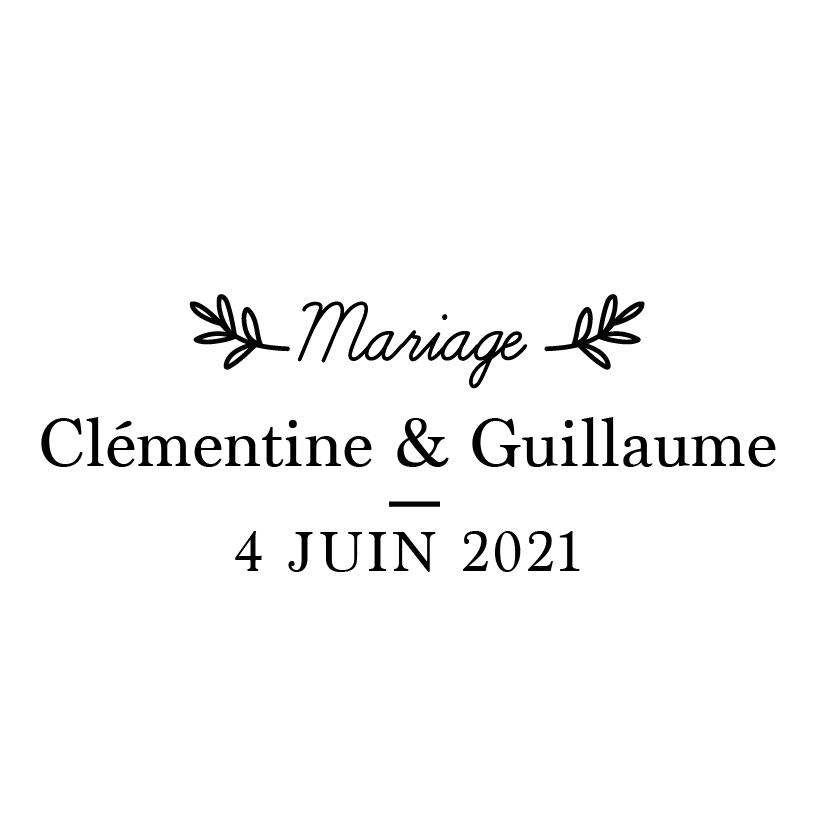 Tampon Mariage Champêtre Vintage
