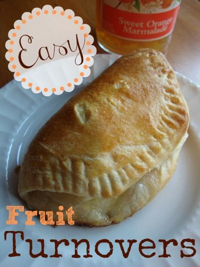 Easy Fruit and Cream Cheese Filled Turnovers. (These are made with ...